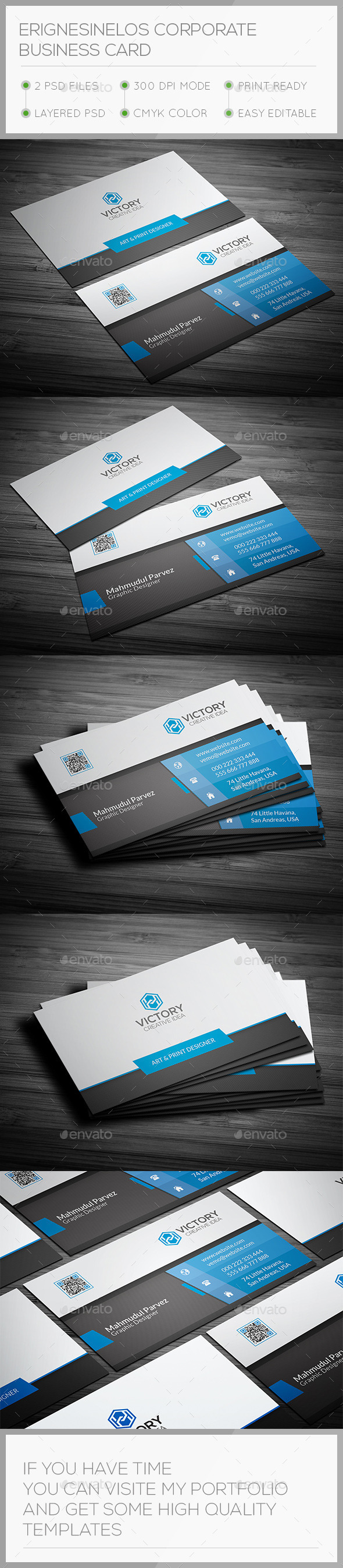 Erignesinelos Corporate Business Card - Corporate Business Cards