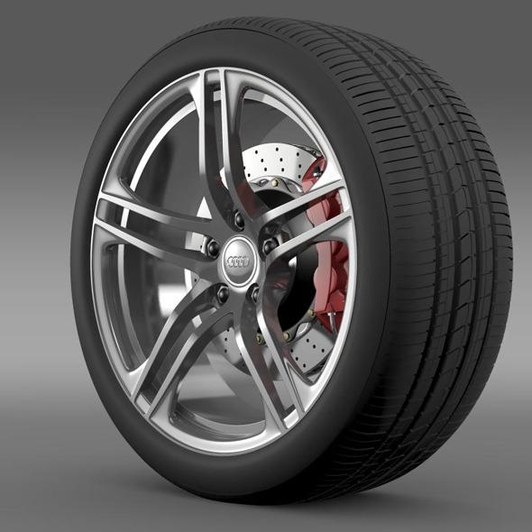 Audi R8 GT wheel - 3DOcean Item for Sale