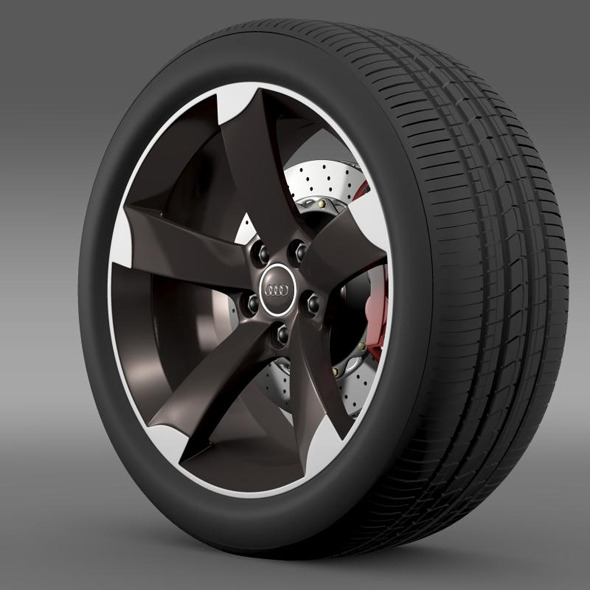 Audi R8 Spyder wheel - 3DOcean Item for Sale