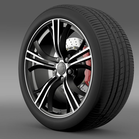 Audi R8 V10 Exclusive wheel - 3DOcean Item for Sale