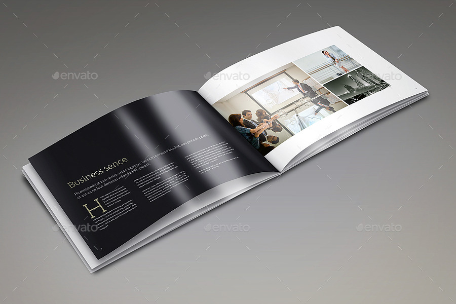 Landscape Brochure Mock-Up Set 2 By 89Pixel | Graphicriver