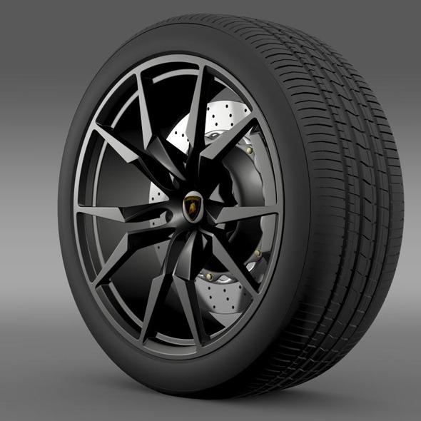 Lamborghini Aventador50 AE wheel - 3DOcean Item for Sale