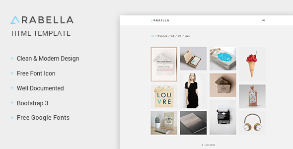 Arabella – Portfolio HTML Template