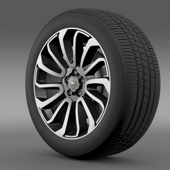 RangeRover V8 wheel - 3DOcean Item for Sale