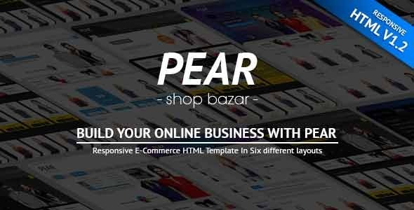 Pear – Responsive E-Commerce HTML Template V1.2