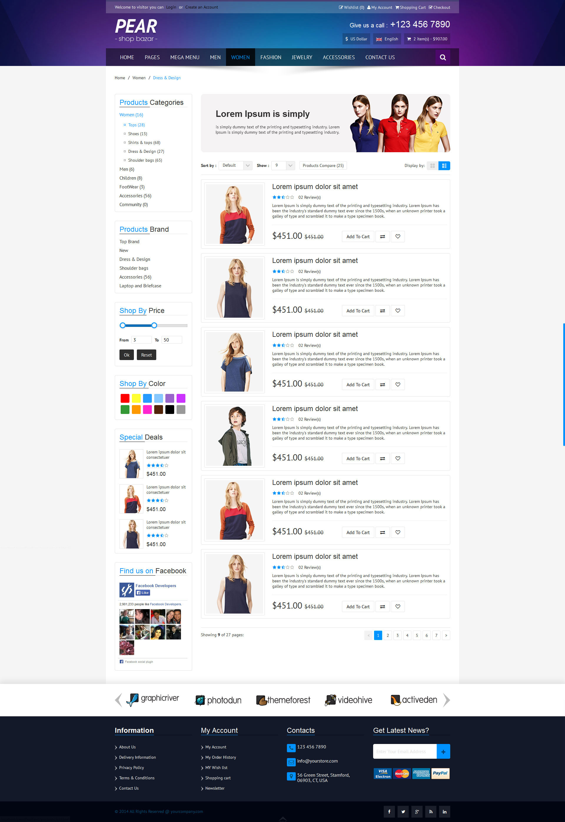 Pear - Responsive E-Commerce HTML Template V1.2 by wedothewebs ...