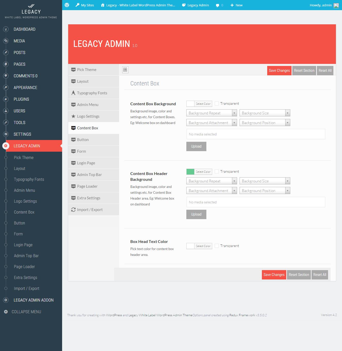 Legacy - White label WordPress Admin Theme by themepassion ...