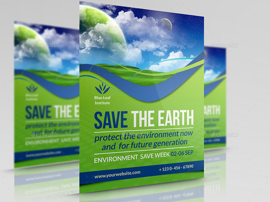 Environment eco flyer vol 3 by owpictures graphicriver for Environment brochure template