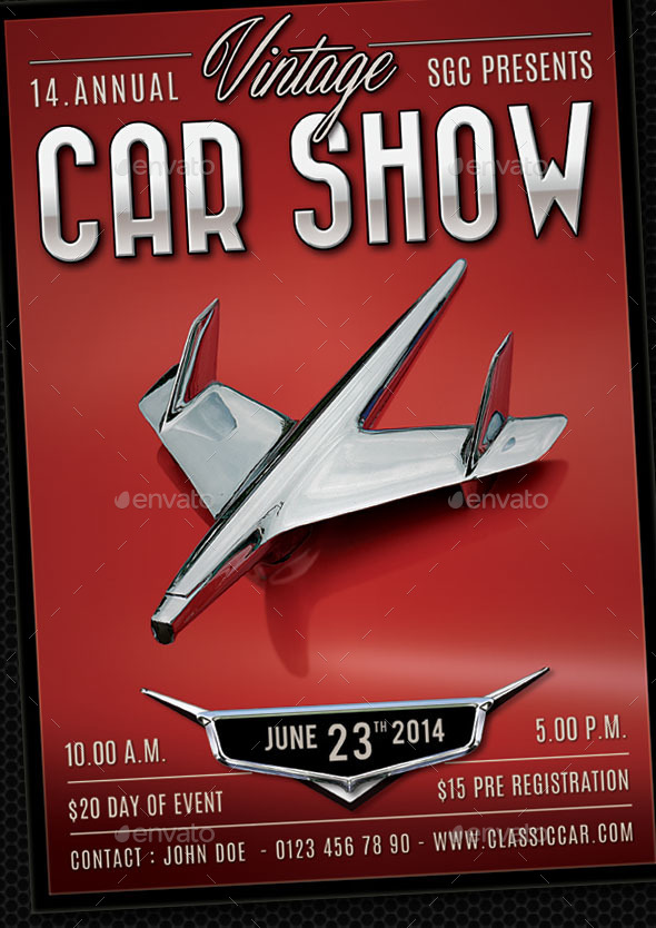 Classic Car Show Flyer By Sgcanturk Graphicriver
