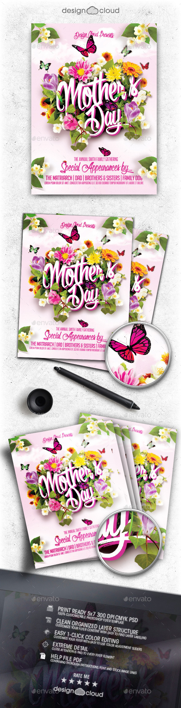 Mother's Day Flyer Template - Holidays Events
