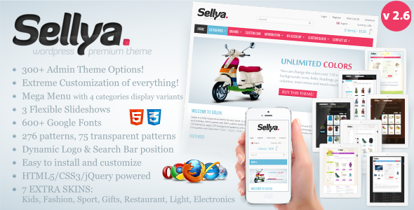 Sellya – Responsive WooCommerce Theme