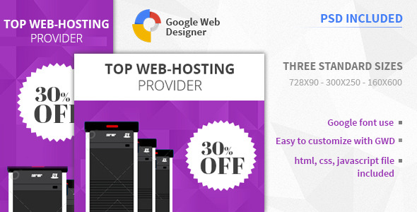 Web Hosting | HTML5 Google Banner Ad - CodeCanyon Item for Sale