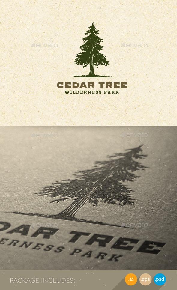 Cedar Tree Wilderness Park Nature Logo - Nature Logo Templates