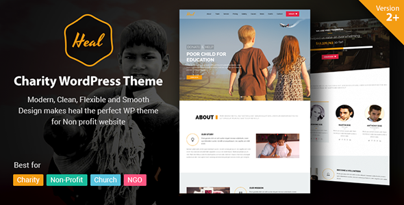 Heal – Multipurpose Charity WordPress Theme