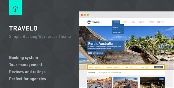 Travelo – Responsive Booking WordPress Theme