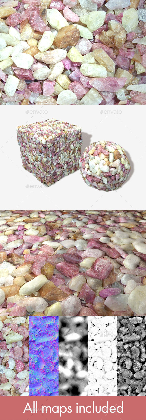 Coloured Precious Stones Seamless Texture - 3DOcean Item for Sale
