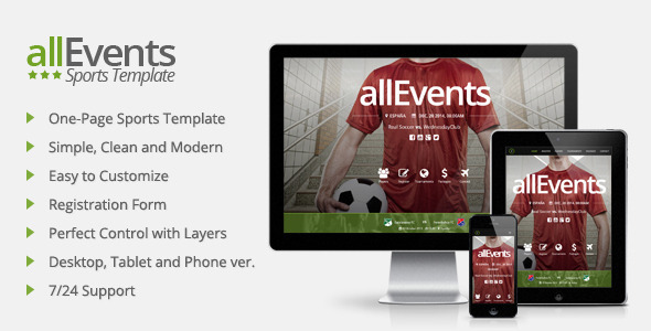 allEvents – Sports Muse Template