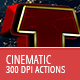 Cinematic 300 DPI - Text Actions