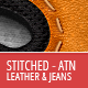 Stitched Leather And Jeans - Actions - GraphicRiver Item for Sale