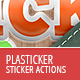 Plasticker - Photoshop Action - GraphicRiver Item for Sale