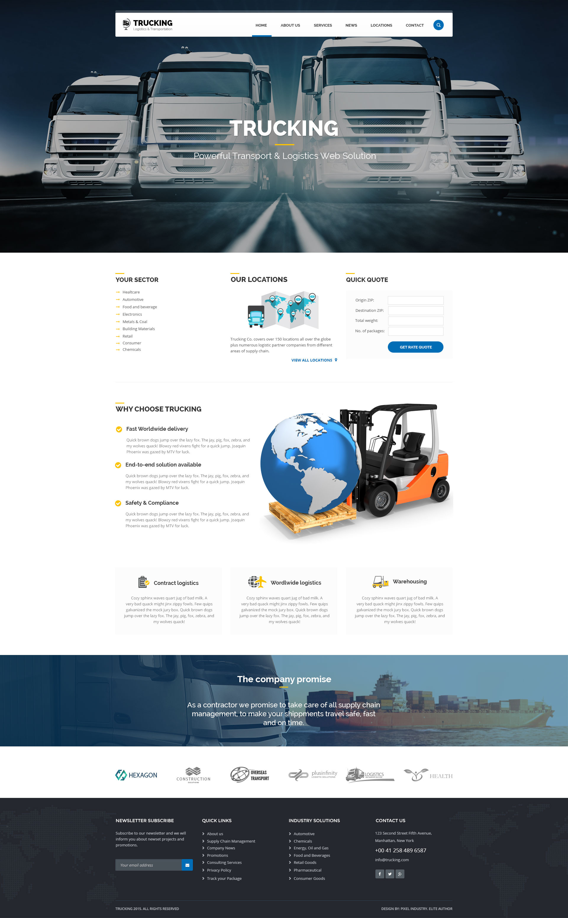 Free Logistics PowerPoint Template