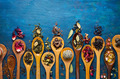 Dry Tea in a Wooden Spoons  - PhotoDune Item for Sale