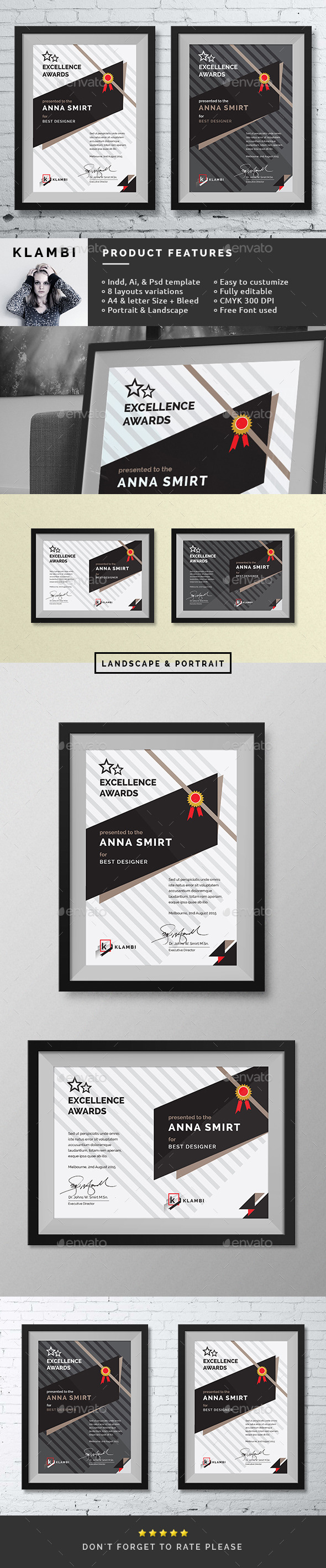 Fashion awards certificates by boxkayu graphicriver fashion awards certificates certificates stationery yelopaper Image collections