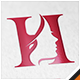 Beauty Salon Woman Letter H Logo