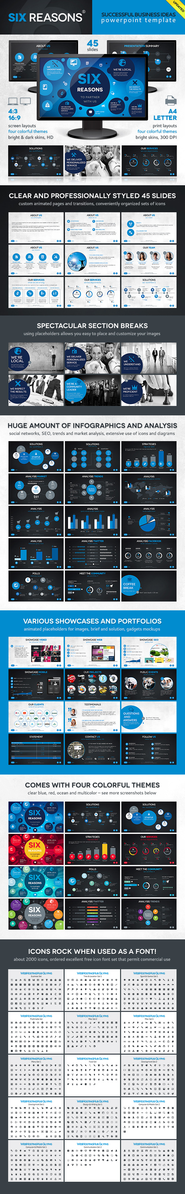 Six Template - PowerPoint Templates Presentation Templates
