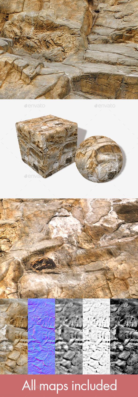Rock Floor Seamless Texture - 3DOcean Item for Sale