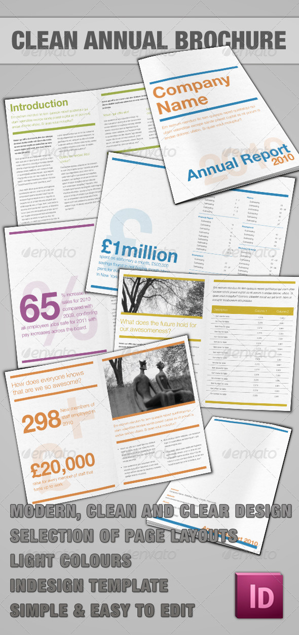 Annual Report - InDesign - Corporate Brochures