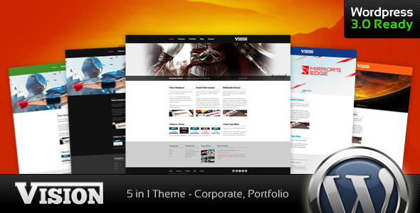 Free Download Vision - Corporate and Portfolio WP Theme Nulled Latest Version