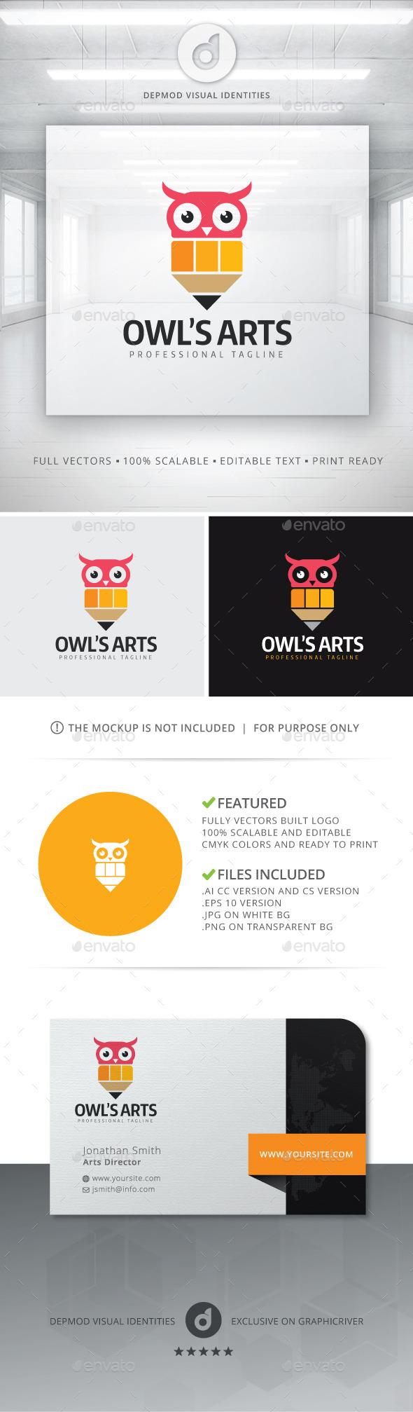 Owl's Arts Logo - Symbols Logo Templates