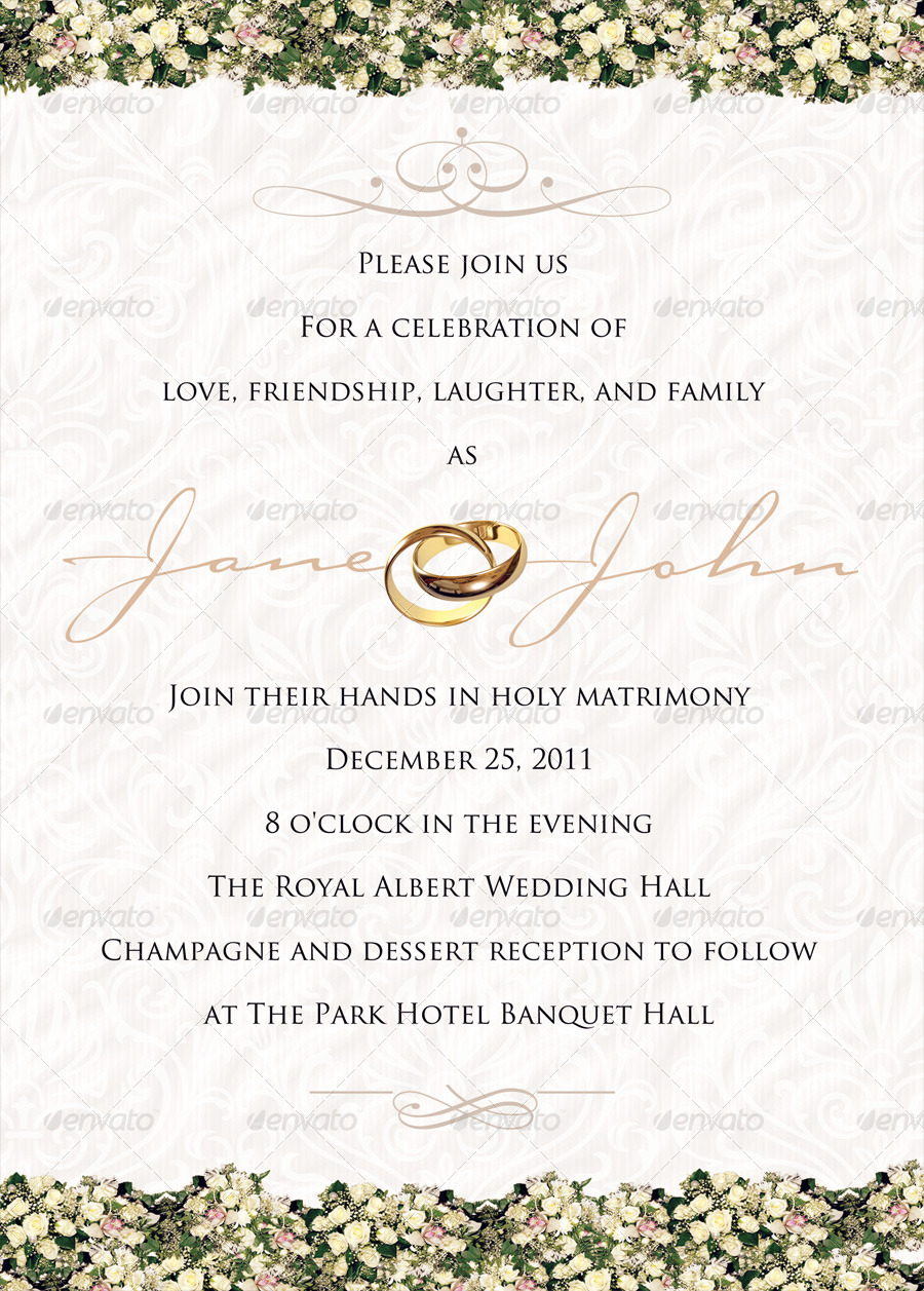 Classy Wedding Invitations by ShermanJackson | GraphicRiver