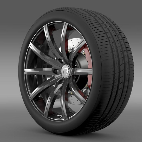 BB Audi R8  wheel - 3DOcean Item for Sale
