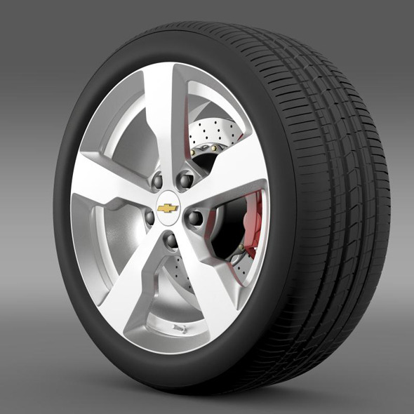 Chevrolet Volt wheel - 3DOcean Item for Sale