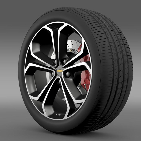 Chevrolet Volt Z spec concept wheel - 3DOcean Item for Sale