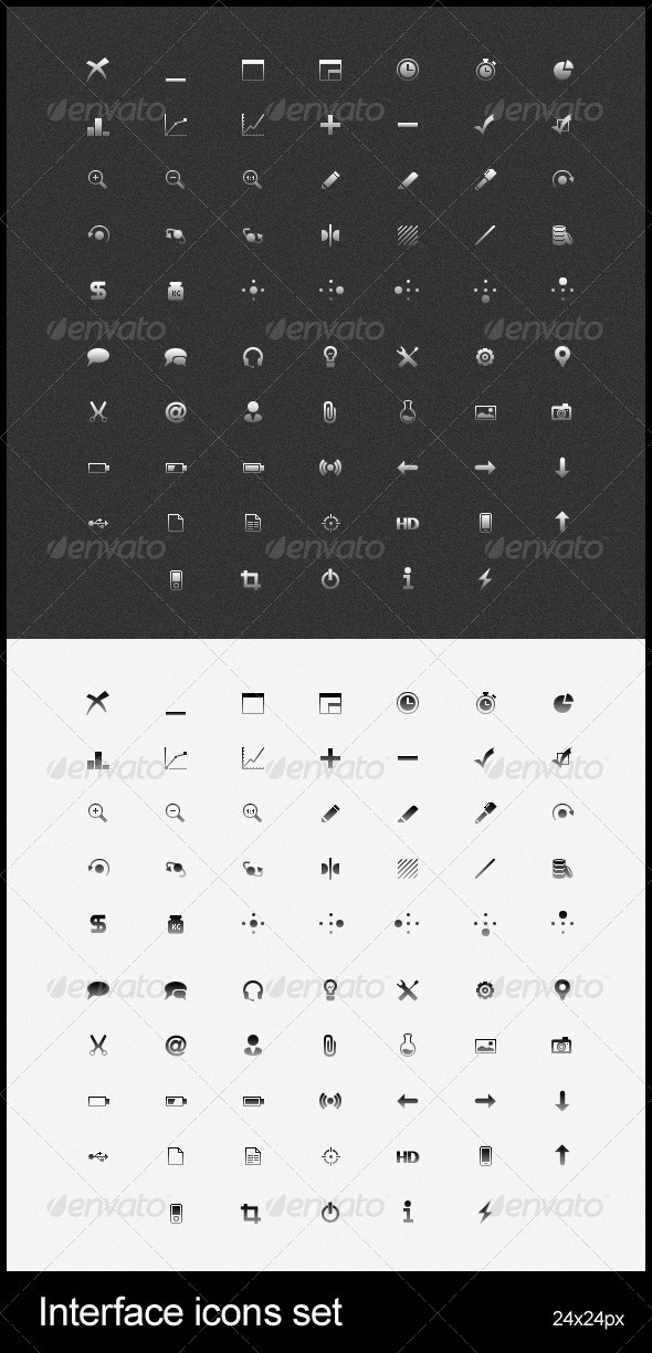 Interface icons set - Web Icons