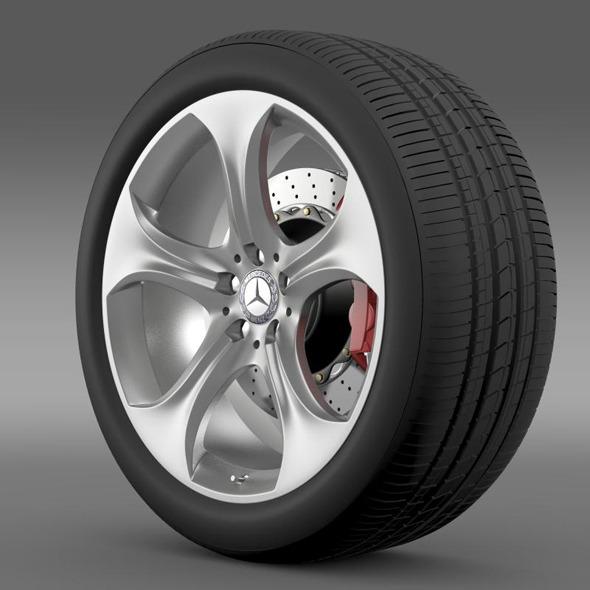 Mercedes Benz S 400 hybrid wheel - 3DOcean Item for Sale