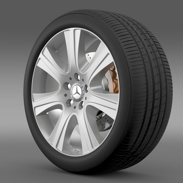 Mercedes Benz S 600 guard wheel - 3DOcean Item for Sale