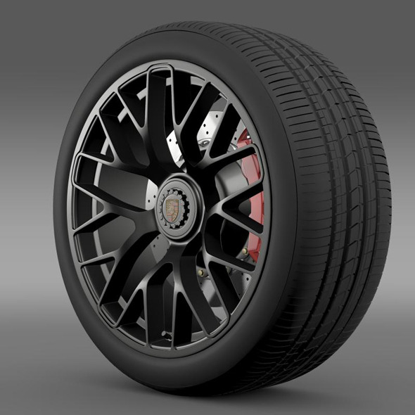 Porsche GTS 2015 wheel - 3DOcean Item for Sale