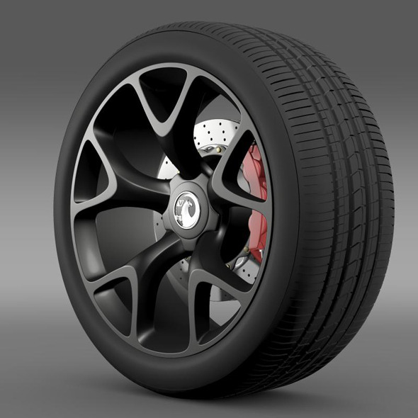 Vauxhall Insignia VRX wheel - 3DOcean Item for Sale