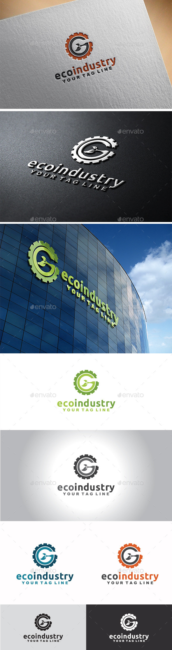 Eco Industry Logo - Nature Logo Templates