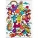 Cute Crazy Doodles Life Vector Illustration - GraphicRiver Item for Sale
