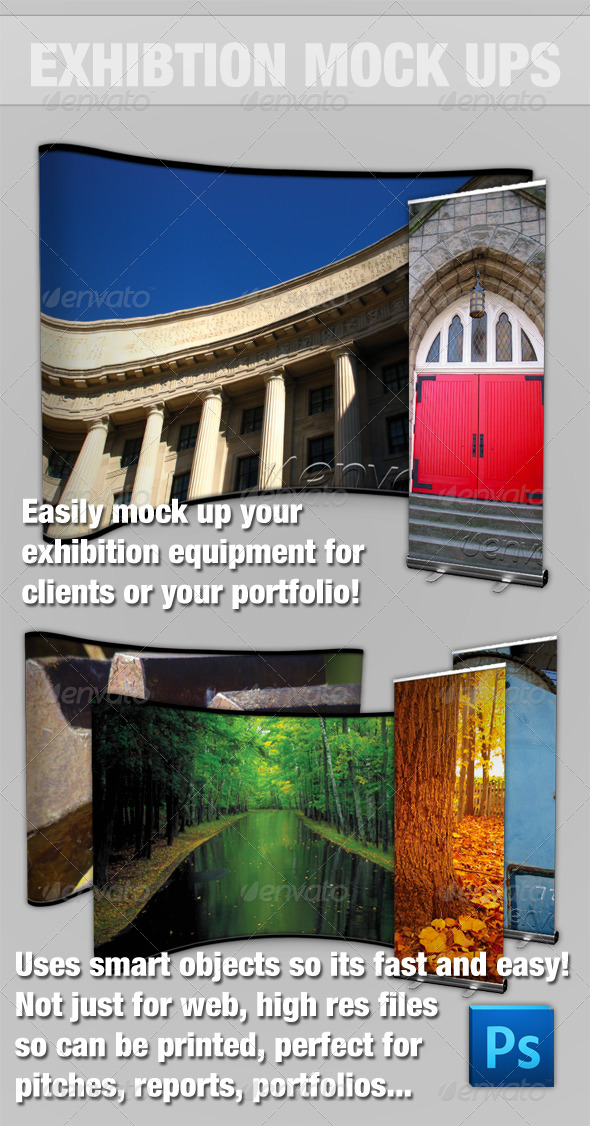 Exhibition Mock-up Kit - Photoshop - Miscellaneous Print