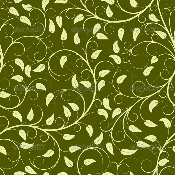 Green plants - Patterns Decorative
