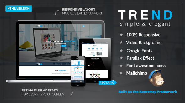 TREND – Multi-Purpose HTML Template - Corporate Site Templates