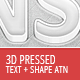 3D Pressed Light and Dark Actions - GraphicRiver Item for Sale