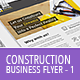 Construction Business Flyer - Letter + A4 - GraphicRiver Item for Sale