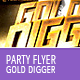 Gold Party Flyer Template - GraphicRiver Item for Sale